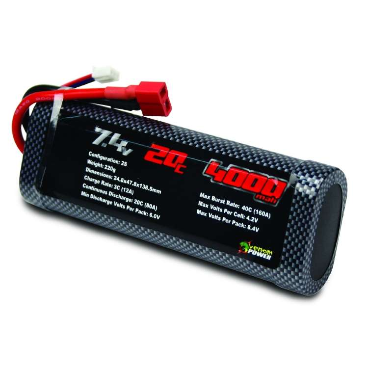 7.4v 20c 4000mah Stick LiPO-001