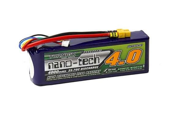 Turnigy nano-tech 4000mah 5S 35~70C Lipo Pack w/XT-60 - RC Kavala Acro Team