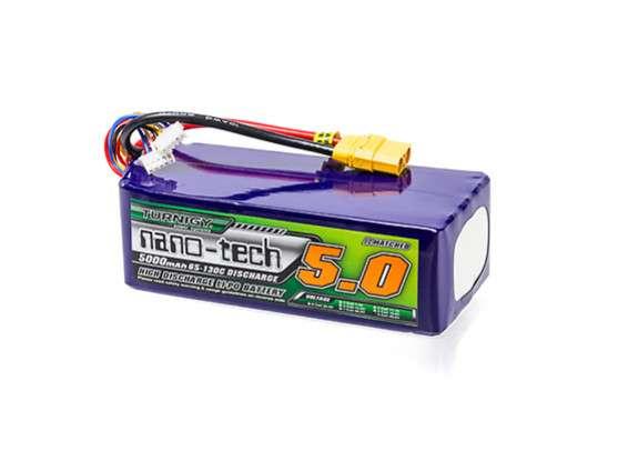 Turnigy nano-tech 5000mah 8S 65~130C Lipo Pack w/XT90 - RC Kavala Acro Team