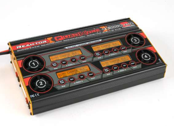 Turnigy Reaktor QuadKore 1200W 80A (4 X 300W 20A) Balance Charger now with NiZN and LiHV - RC Kavala Acro Team
