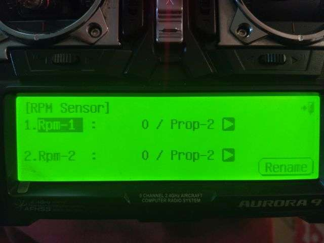 Rc Kavala Acro Team - HTS-SS Aurora 9 optical sensor screen